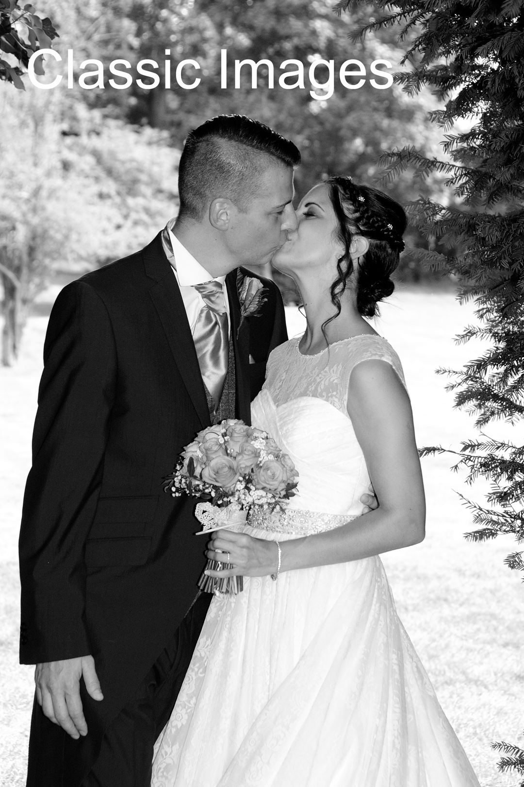 bride-groom-kissing-wedding-photo