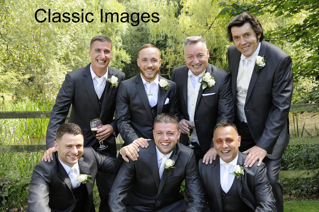 Creative-photo-groom-bestman-ushers-wedding-holiday-inn-shepperton
