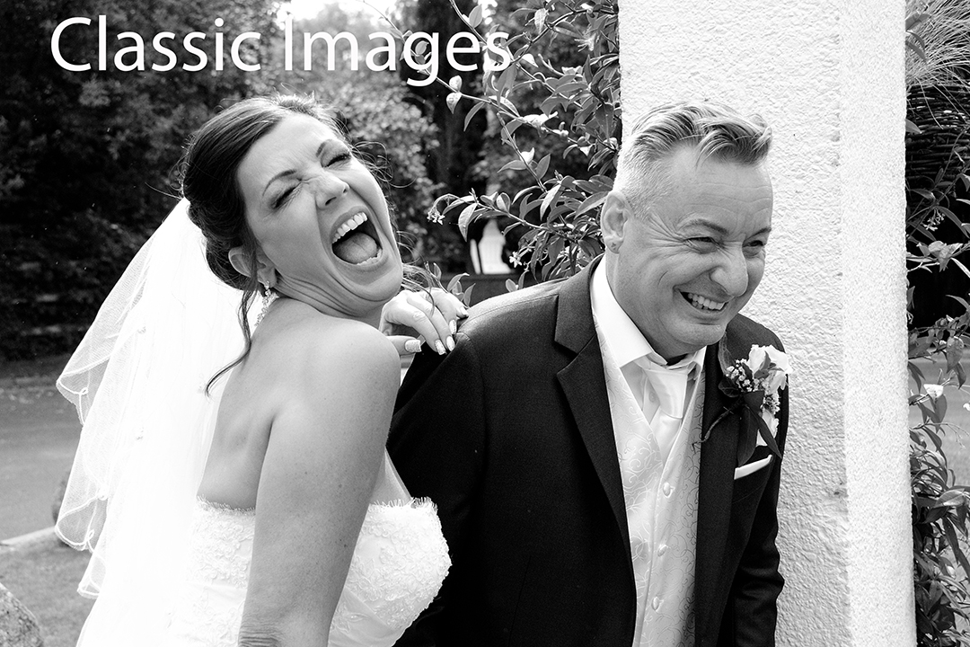 fun-black-and-white-wedding-photograph
