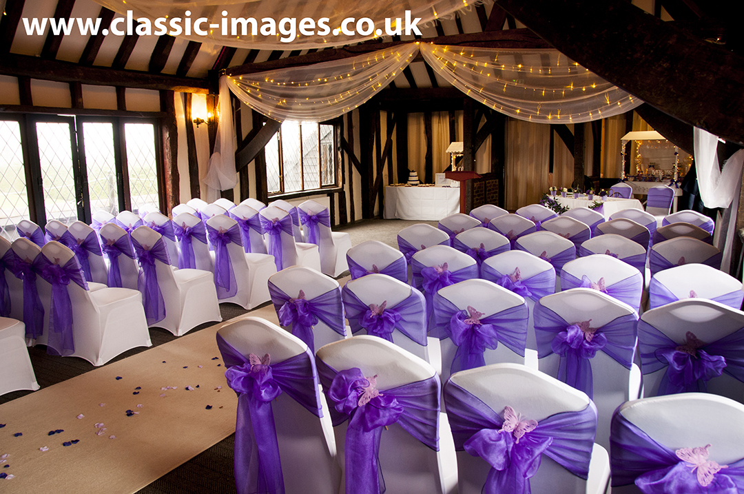 beautiful-marriage-room-purple-sashes